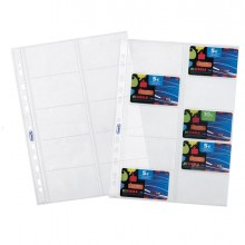 10 Buste Forate Porta Cards 21,5X29,7Cm Favorit