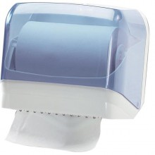 Dispenser Asciugamani In Rotolo/ Fogli Trasparente/Bianco Mar Plast