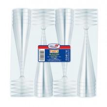 20 Bicchieri Flutes Diamant Monouso Dopla