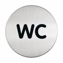 Pittogramma Diam 8,3Cm 'Wc' In Acciaio