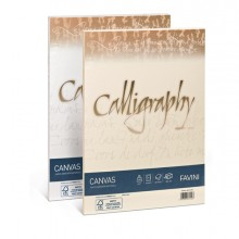 Carta Calligraphy Canvas 200Gr A4 50Fg Bianco 01 Favini