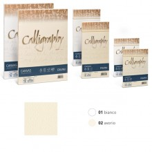 25 Buste Calligraphy Canvas 11X22Cm 100Gr 01 Bianco