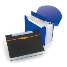 Cartella A 13 Tasche 23X33Cm Blu Optima Expander