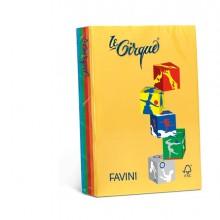Carta Lecirque A4 80Gr 200Fg Mix 4 Colori Intensi Favini