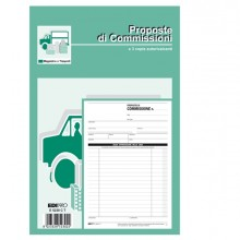 Blocco Copia Commissioni 23X15Cm 33Fg 3 Copie Autoric. E5230Ct Edipro