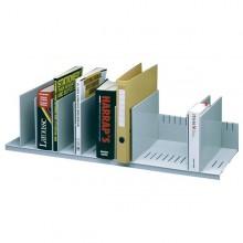 Portariviste A 10 Separatori Mobili Grigio 80,2X27,5X21Cm Paperflow
