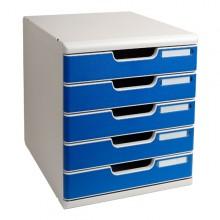 Cassettiera Modulo A4 5 Cassetti Grigio/Blu Multiform