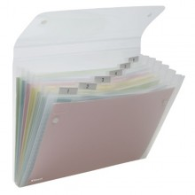 Cartella A 6 Tasche 22X30Cm Trasparente Ice Rexel