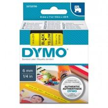 Nastro Dymo Tipo D1 (6Mmx7Mt) Nero/Giallo 436180