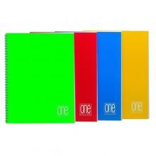 Maxiquaderno A4 Spiralato 4Mm S/Fori 80Gr 60Fg One Color Blasetti (conf.5)
