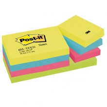 BLOCCO 100foglietti Post-it® 38x51mm 653-TFEN ENERGY 72GR ASSORTITO (conf. 12 )