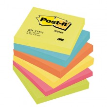BLOCCO 100foglietti Post-it® 76x76mm 654-TFEN ENERGY 72GR ASSORTITO (conf. 6 )