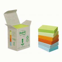 BLOCCO 100foglietti Post-it®Notes Green 38x51mm 653-1GB NATURAL (conf. 6 )