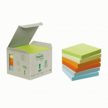 BLOCCO 100foglietti Post-it®Notes Green 76x76mm 654-1GB NATURAL (conf. 6 )