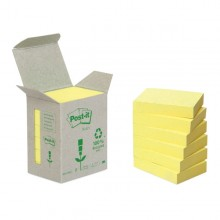 BLOCCO 100foglietti Post-it®Notes Green 38x51mm 653-1B GIALLO (conf. 6 )
