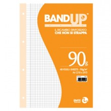 Ricambi Forati Rinforzati Bandup A4 90Gr 40Fg 4Mm C/Margine Bm