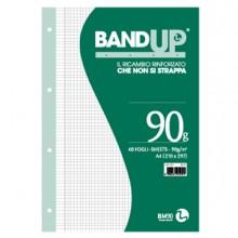 Ricambi Forati Rinforzati Bandup A4 90Gr 40Fg 5Mm C/Margine Bm
