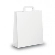 Scatola 350 Shoppers 22X10X29Cm Bianco Neutro Piattina