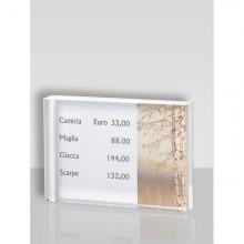 Porta Prezzi Da Banco Small 10X7X2Cm In Acrilico