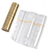 Sacchetto Da 100 Blister Portamonete 20 Cent Fascia Arancio