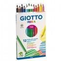 Astuccio 12 Pastelli Giotto Mega
