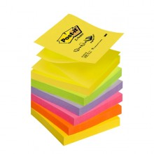 BLOCCO Post-it®Super Sticky Z-Notes 76x76mm 100fg R330-NR NEON (conf. 6 )