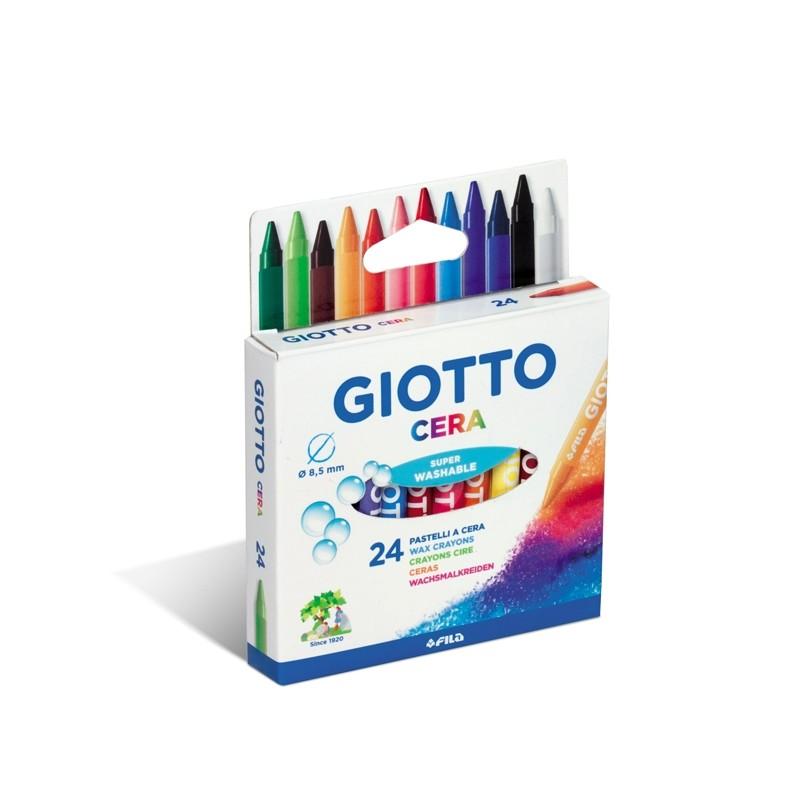 Astuccio 24 Pastelli Cera 90Mm ø 8.5Mm Giotto