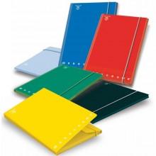 CARTELLA 3 LEMBI c/elastico A4 - D 1.2 MONOCROMO colori assortiti (conf. 6 )