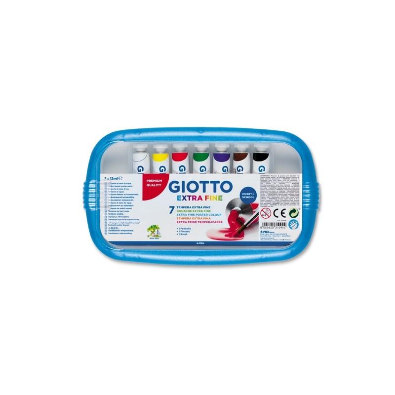 Box 7 Tubetti Tempera 12Ml Giotto Tubo 4 Assortito