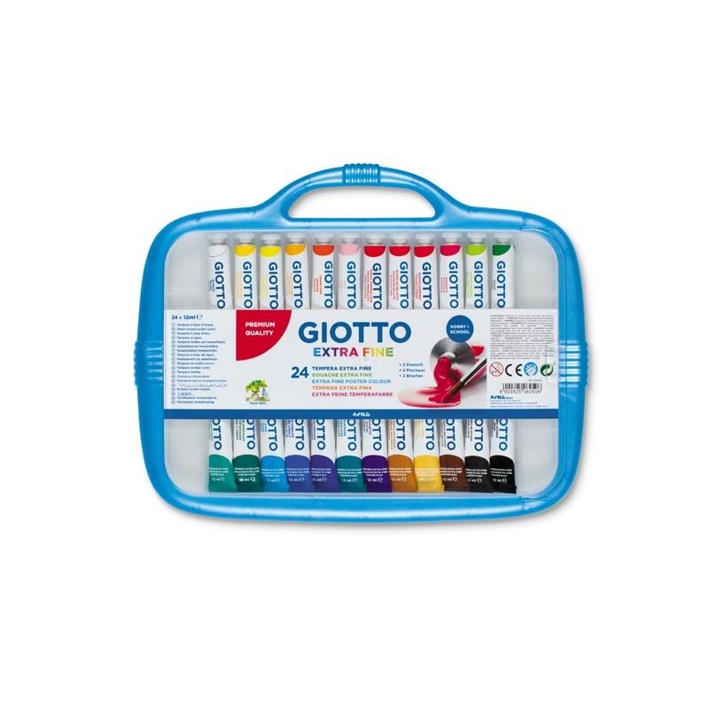 Box 24 Tubetti Tempera 12Ml Giotto Tubo 4 Assortito