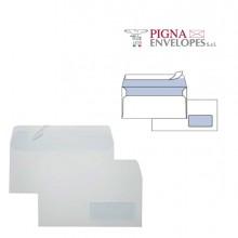 500 Buste Bianche 110X230Mm C/Finestra 90Gr Stampa Laser Edera Strip Pigna