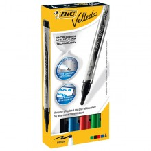 Astuccio 4 Marcatori P.Tonda Whiteboard Velleda Liquid Ink Pocket Bic
