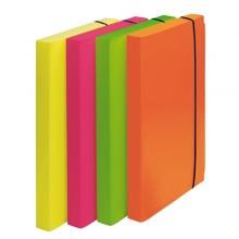Cartella Progetto D.3Cm Con Elastico Colori Fluo Shocking File (conf.4)
