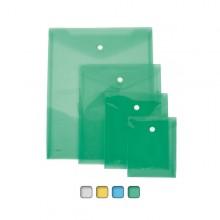 Busta Con Bottone A6-Vert. 13,5X18,5Cm Colori Assortiti Lebez (conf.12)