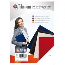 100 Copertine A4 Cartoncino Goffrato 250G Blu Titanium