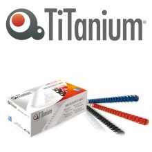 100 Dorsi Plastici 21 Anelli 12Mm Rosso Titanium