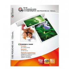 100 POUCHES 75x105mm 125my JUMBO CARD TiTanium