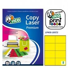 Etichetta Adesiva Lp4C Giallo Opaco 70Fg A4 105X72Mm (8Et/Fg) Tico