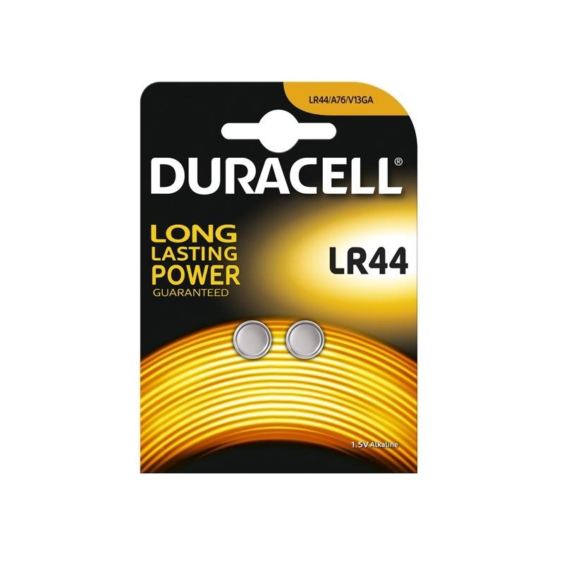 Blister 2 Pile Alcaline Duracell 1,5V 150Mah (Lr44)
