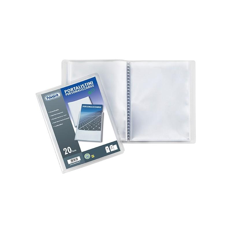 Portalistino Personalizz. Sviluppo Liscio 15X21Cm 50 Buste Trasparente Favorit