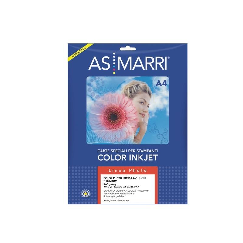 Carta Inkjet A4 265Gr 10Fg Color Photo Lucida 8398 As Marri