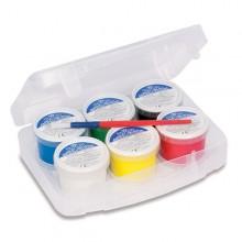 Valigetta 6 Colori A Dita 100Gr C/Pennello Primo