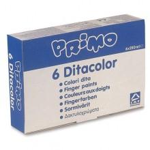 Box 6 Colori A Dita 250Gr Primo