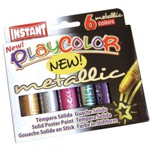 Tempera Solida Playcolor 6 Colori Metal In Stick Da 10Gr