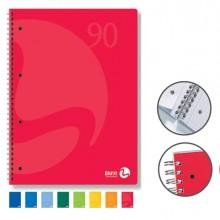 Quaderno A5 163X210Mm Spiralato 90Gr 60Fg 4Fori Microperf. 1Rigo Colors Bm (conf.5)