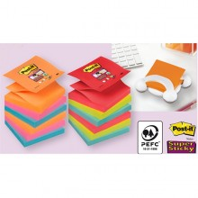 BLOCCO 90foglietti Post-it®Super Sticky Z-Notes 76x76mm R330-6SS-RIO D/J (conf. 6 )