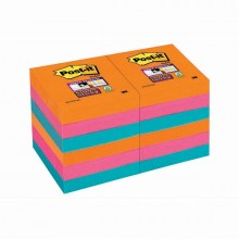 BLOCCO 90foglietti Post-it®Super Sticky 47.6x47.6mm 622-12SS-EG BANGKOK (conf. 12 )