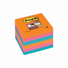 BLOCCO 90foglietti Post-it®Super Sticky 76x76mm 654-6SS-EG BANGKOK (conf. 6 )