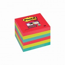 BLOCCO 90foglietti Post-it®Super Sticky 76x76mm 654-6SS-JP BORA BORA (conf. 6 )