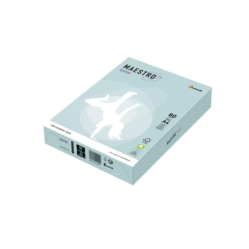 Carta Maestro Color A4 210X297Mm 80Gr 500Fg Azzurro Tenue Bl29 Mondi